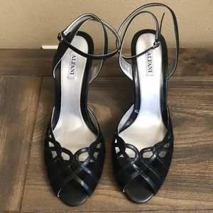Alfani new black wedge heels